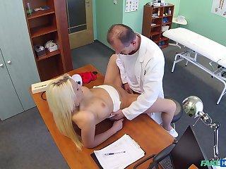 Doctor deep fucks blonde patient in intense scenes