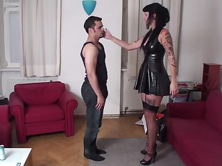young mistress face slapping in hard sex scene