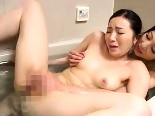SMALL Knocker ASIAN LESBIAN PORNSTAR LICKS HAIRY PUSS
