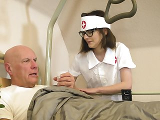 Caring nurse Sara Bell takes nonconformist care of an old fogey