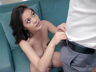 Sweet cookie has some taking kinky plans with the guy's penis