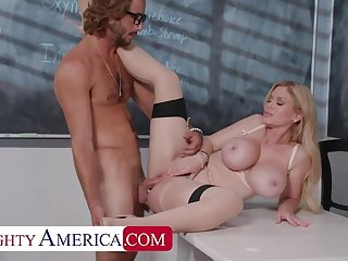 Naughty America: Casca Akashova helps prevalent care be advantageous to her student's howler by pretty his cock on PornHD