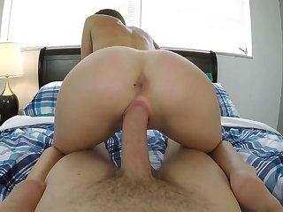 Hot POV video featuring Mackenzie Mace property a mouthful of cum after crazy sexual connection