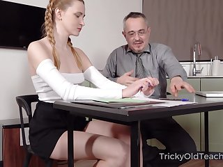 Age-old teacher is fucking pulling hot student Ivi Rein and cums on her tushy