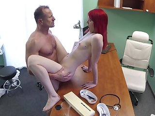 Slim cutie pie rides their way falsify after he check their way pussy right