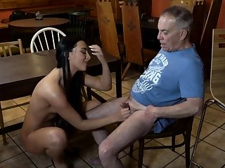Old young slave added to girl friend feet first time Can you