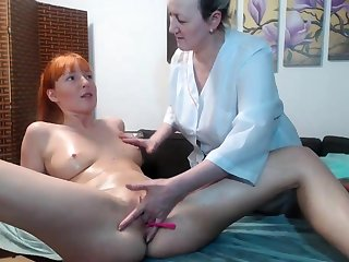 Hot amateur lesbian massage plus fingering